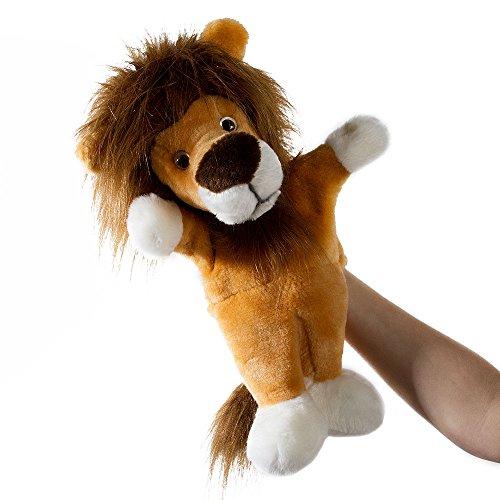 Handpuppe Löwe - von STEINER - Kuscheltier handgefertigt   Simba aus König der Löwen   kuscheliges Kinder-Spielzeug   zum Spielen, Kuscheln, Liebhaben  Geschenk-Idee für Weihnachten, Geburt
