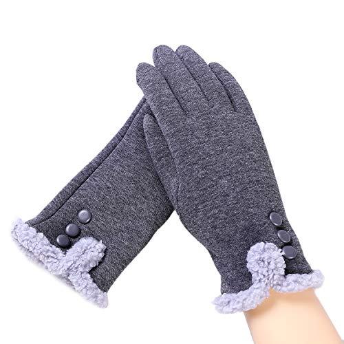 Aibrou guanti invernali da donna, esterno phone touchscreen, guanti invernali per natale antivento per lo sport, sci, ciclismo, corsa.