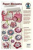 Ursus 23220099 - Paper Blossoms Crazy Hearts, 220 Blütenstanzteile, Schmucksteine und Halbperlen