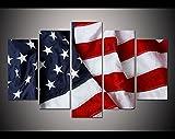 QFQH Drucken Vereinigte Staaten Flagge vierten Juli Malerei auf Leinwand Kunst Home Deocr Print Malerei Wohnzimmer Decor Wall Bild, 11