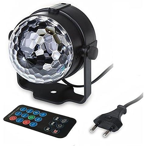 Menggood 2016 Nuovo mini RGB LED del suono della luce della sfera magica di cristallo della lampada attiva, effetti di luce colorati fase attiva vocali per Rotazione Disco KTV Bar partito - Rotazione Disco