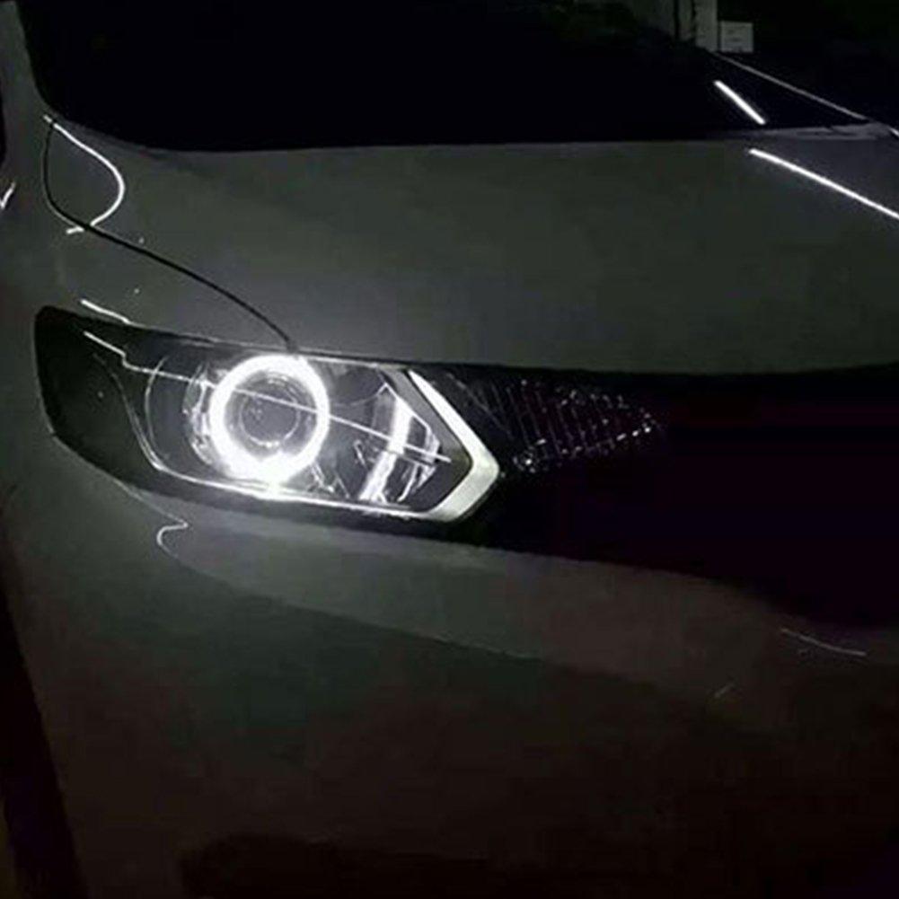1 coppia tensione DC12/V luce bianca 6500/K diametro 60 mm Taben Anello LED COB 45SMD luminoso Lampada per fari Angel Eyes