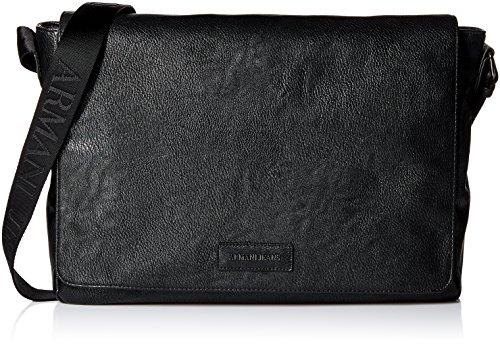 Armani Jeans Faux Leather Messenger Bag Unica Taglia Nero