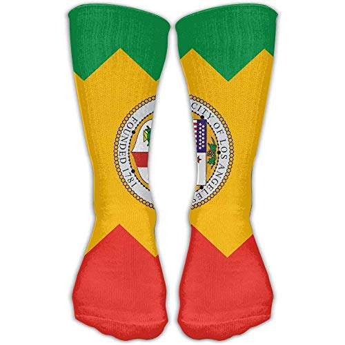 Flag Of Los Angeles California Unisex Sports Socks Tube Socks Knee High Compression Sports Athletic Socks Tube Stockings Long Socks Smartwool Striped Hat