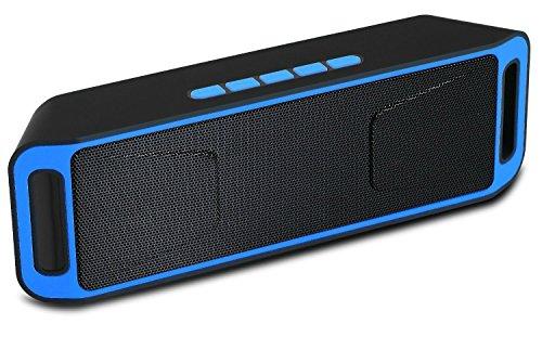 Altoparlante Portatile Suono surround Speaker Bluetooth, Magicmoon Altoparlante senza fili con costruito in viva voce Mic - Opere per Iphone, Ipad, iTouch e altri intelligenti cellulari, lettori MP3 (Blu)