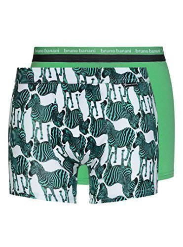 Bruno Banani Short 2Pack HOT SHOT Animal Mix Grün Zebra Print 2201-1341/1726 (XXL/8)