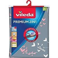 Vileda 140511 Premium 2-in-1 Housse universelle pour planche à repasser 30-45x110-130cm