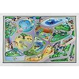 Playmat Zoo - Farbenfrohe Spielteppiche - Rutschfest 75x112