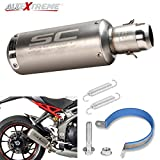 """Best Motorcycle Exhausts - AllExtreme EX2IMSS Stainless Steel 1.5-2"""" Inlet Universal Exhaust Review"""