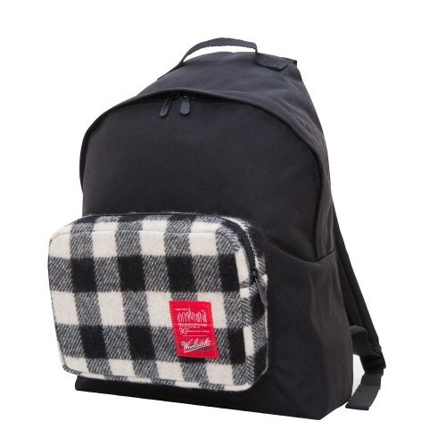manhattan-portage-woolrich-buffalo-check-big-apple-backpack-white-black-medium