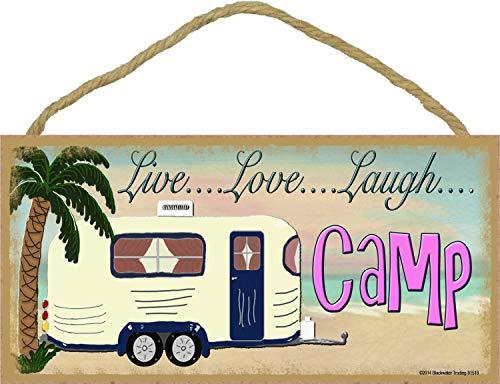 Beach Live Love Laugh Camp Camping Sign Camper Plaque 5