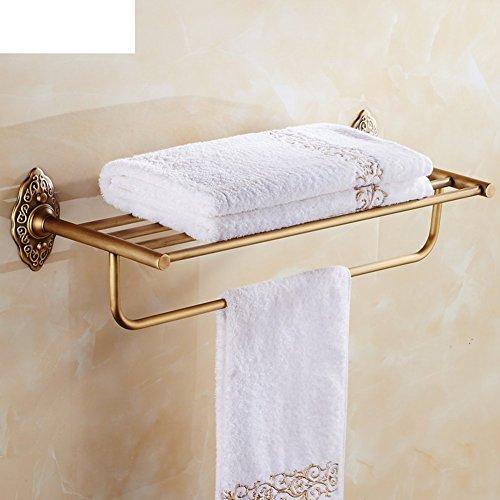 LISABOBO Antike Handtuchhalter Handtuch Regal Messing im europäischen Stil mit Bad Regale Badezimmer Hardware Zubehör - - Hardware-messing Bad