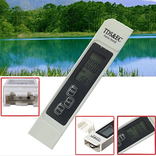 Tutoy Digital LCD Tds Wasserqualität Messgerät Tester Filter Reinheit Pen Stick 0-9999 Ppm