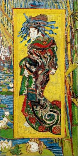 Posterlounge Hartschaumbild 90 x 180 cm: Japonaiserie: Kurtisane oder Oiran von Vincent Van Gogh/Bridgeman ()