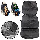 JJOnlinestore–Protector de piel para asiento de coche, mejor protección para mascota, bebé y niños, color negro