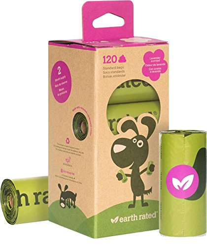 Earth Rated 120-Count Dog Waste Bags, Biodegradable Lavender-Scented Poop Bags, 8 Refill...
