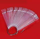 DIY & Tools : Liroyal 50 Nail Art Tips Colour Pop Sticks Display Fan Clear False Practice starter kit