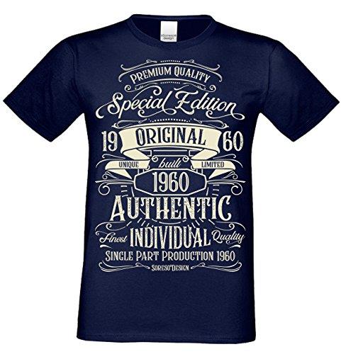 T-Shirt Geschenk zum 58. Geburtstag Special Edition 1960 Bruder Sohn Freund Papa Opa Farbe: Navy-blau Gr: XL