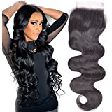 "8"" Lace Closure Brazilian Hair Body Wave Virgin Remy Unprocessed Human Hair Lace Front Closure With Baby Hair..."