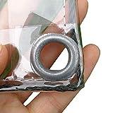 Telone Trasparente Telone in PVC Multiuso Impermeabile Resistente for Copertura di Barche Copertura for Piscina da Pesca Privacy Tappetino da Picnic (Size : 2x4m)