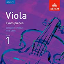 Viola Exam Pieces 2008 CD, ABRSM Grade 1 2008: The Complete Syllabus Starting 2008 (ABRSM Exam Pieces)