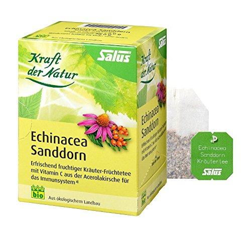 Echinacea Espino té Fuerza la Naturaleza Salus filtro Bolsa, 15st