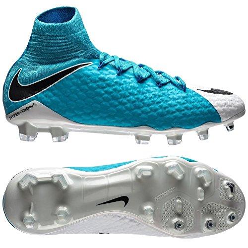 Nike Hypervenom Phatal III Dynamic Fit FG, Chaussures de Football Homme Bleu