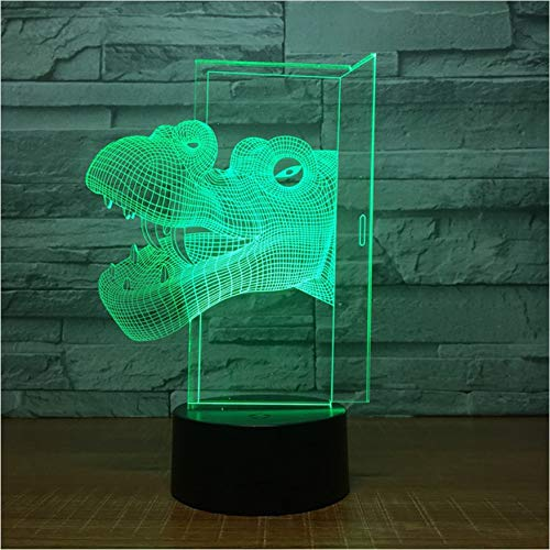 7 Farbe Allmähliche Veränderung Niedlichen Dinosaurier Kopf Kleine Nachtlampe Stand Dekoration Usb Led Kinder Lampe Geburtstag Dekorationen 3D Led lampe