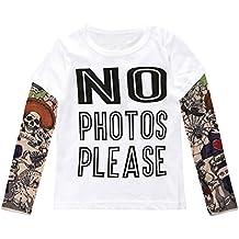 Zantec Camiseta Unisex de cuello alto para niños Camiseta de algodón de manga  larga para niños 439d6613a48