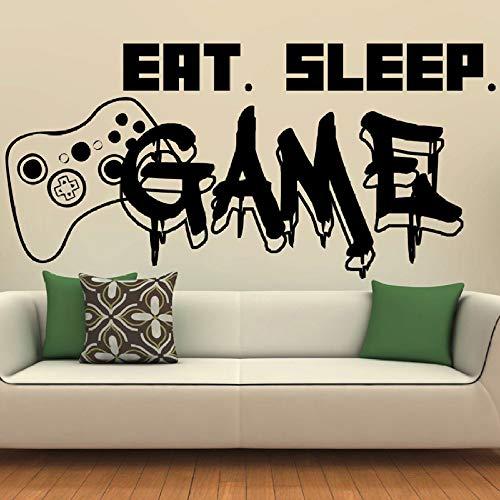 BFMBCH decalcomanie della parete del gioco giochi di sonno controller di gioco adesivi murali camera da letto fiore murale decorazione della parete carta da parati adesivi murali 13 medio blu 57x28 cm