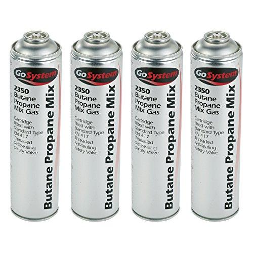 GoSystem 2350 Butane Propane 70:30 Mix Gas Cartridge 350g 631ml - 4 Pack