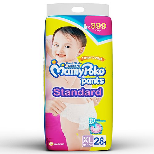 Mamy Poko Pants Standard Pant Style Extra Large Diapers (28 Count)