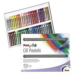 Idea Regalo - Pentel PHN Pastelli Olio, Confezione da 50 Pezzi