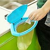 Bargain World Cocina estante de soporte de la bolsa baño titular de basura basura basura basura de plástico