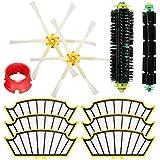 Yongse 11pcs Vacuum Cleaner Kit de accesorios Filtros y cepillos para la serie 500 de iRobot Roomba
