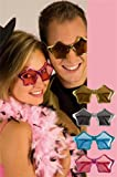 Fancy Dress Accessory Star Shaped Specs Gold