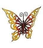 Tuzech Metall Designer Handgefertigt Handwerk Geschenk Visitenkarte Wanddekoration–Groß Bunt Schmetterling 19*14 Hollow