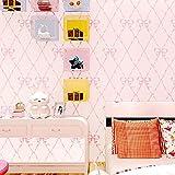 XWH Prinzessin Zimmer Diamant Tapete, Schlafzimmer Gestreiften Tapete Wohnzimmer Hintergrundbild, Warme Rosa Bogen Vliestapete,Bogen,cm