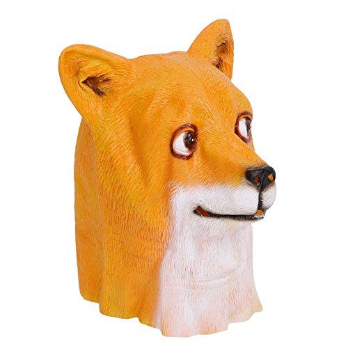 dairyshop Halloween lustige Tier Hund Kopf Maske Shiba Inu Maske aus Latex Party Kostüm (Zum Kostüme Scary Clown Verkauf)