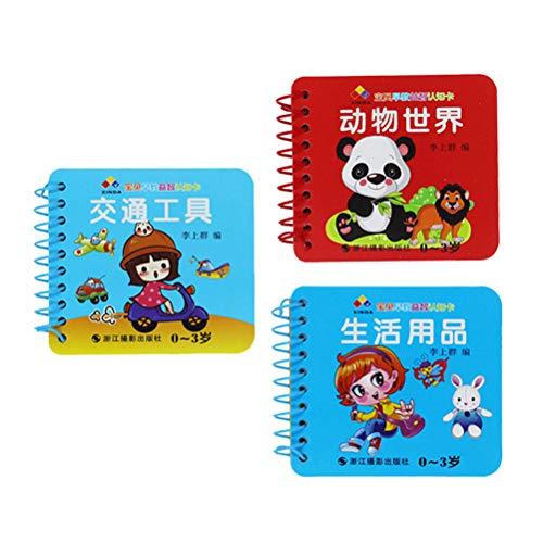 Toyvian Libros Blandos para Bebes Juguete Educativo para Bebe Chino y Ingles 3 Piezas