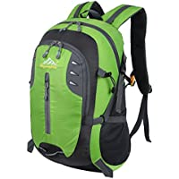 HWJIANFENG Zaini 30L Sportivi Unisex in Nylon Poliestere Trekking Outdoor Campeggio Escursionismo Viaggi Montagna Zaino Porta PC Quotidiano Verde