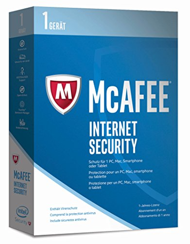 McAfee Internet Security 2017 | 1 Gerät | 1 Jahr | PC/Mac/Smartphone/Tablet | Download