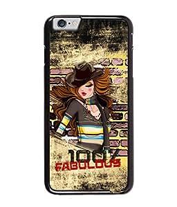 Fuson Fabulous Girl Back Case Cover for APPLE IPHONE 6 PLUS - D3993