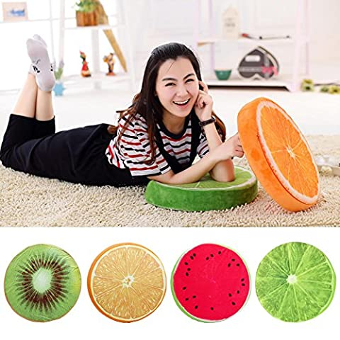 3D Fruit Cushion, for Chair Seat Sofa Back, Throw Pillow