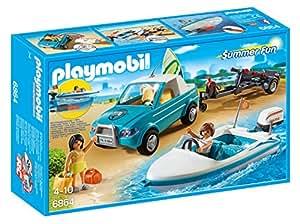 playmobil 6864 voiture avec bateau et moteur submersible. Black Bedroom Furniture Sets. Home Design Ideas