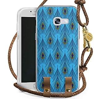 DeinDesign Coque Collier Compatible avec Samsung Galaxy A3 Duos 2017 Coque avec lanière Coque avec Cordon Plume D'Autruche Motif Rétro