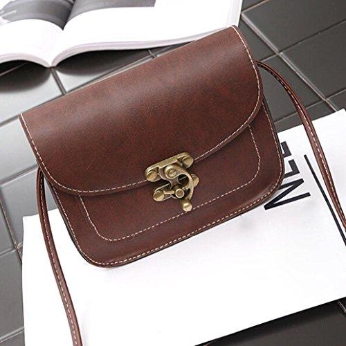 Umhängetasche - Xjp Retro Single Schulter Schultertasche Messenger Bags Kaffee