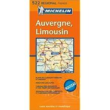 Carte routière : Auvergne - Limousin
