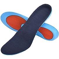 SOUMIT Alltag Einlegesohlen | Weich Antibakteriell Fußbett, Dämpfung Schuheinlagen mit Fersenschutz für Schützt Ihre Füße auf Harten Oberflächen (XL EU44-46, Länge: 29CM)