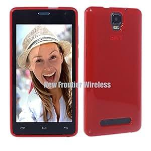 SKY 5.5W TPU Gel Rubber Soft Skin Silicone Protective Case Cover (TPU Red)